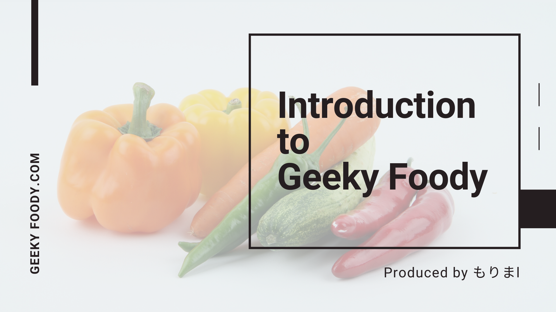 Geekky Foody 自己紹介