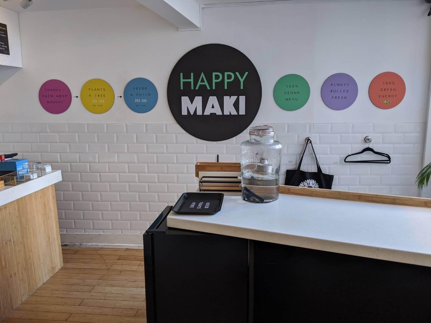 Happy Maki 1階 カウンター