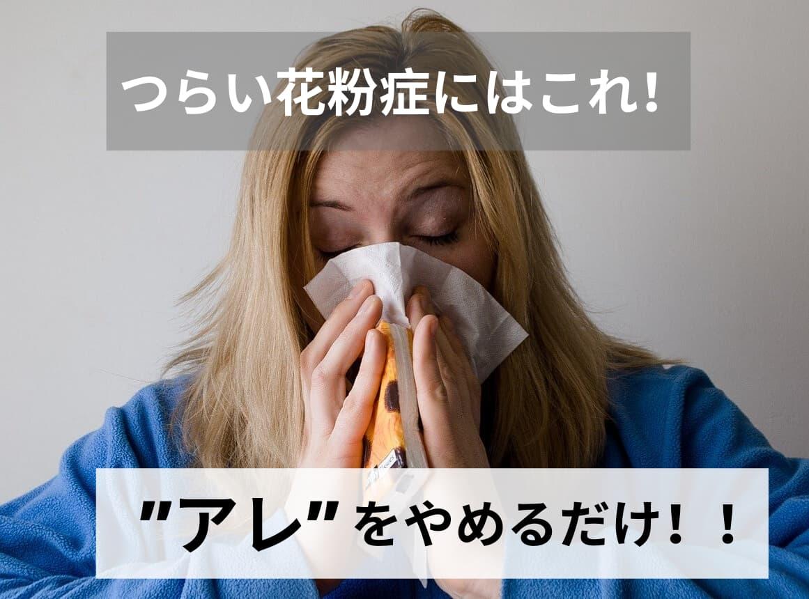 花粉症対策 ファストフード アイキャッチ画像
