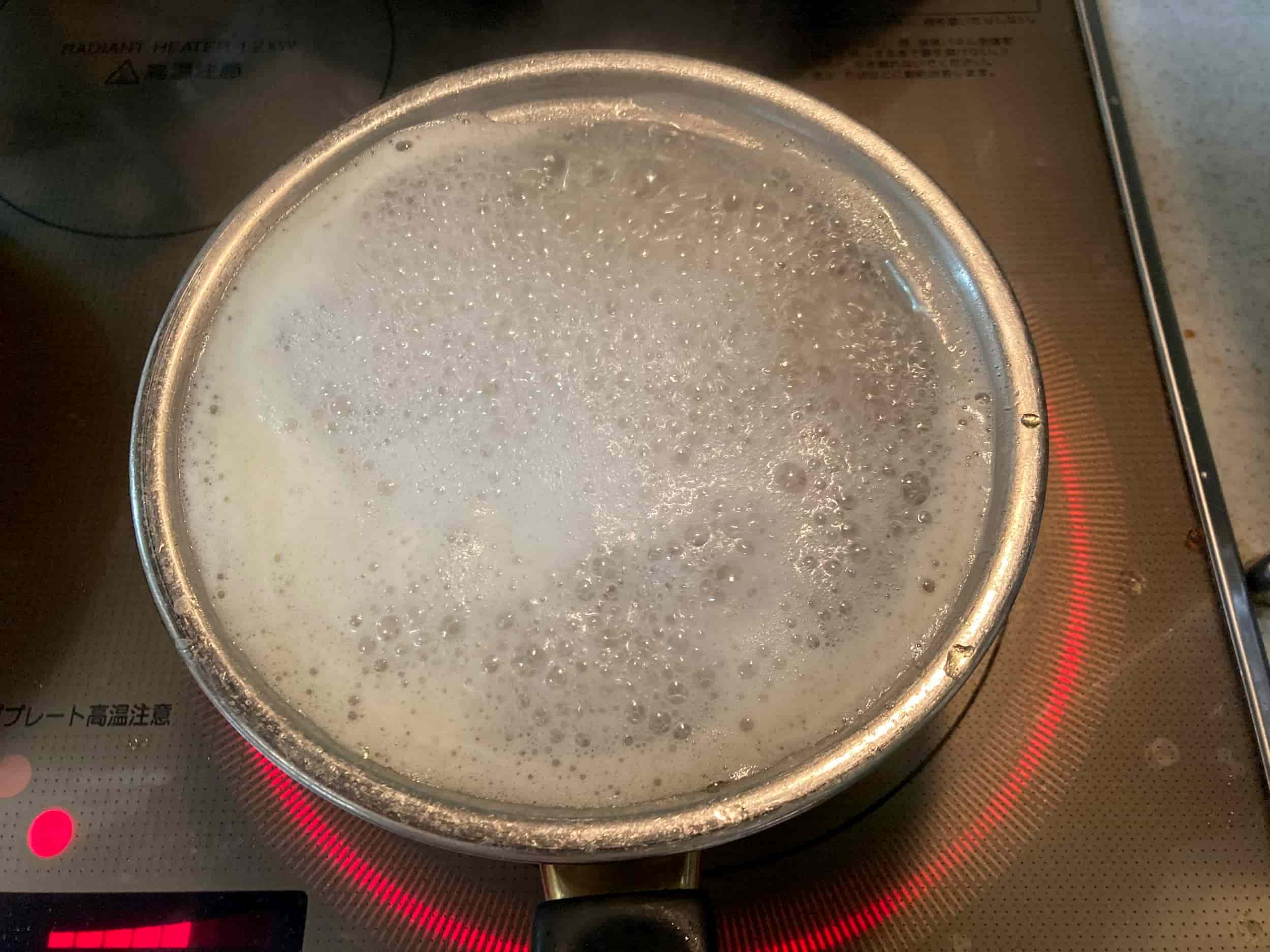 BASE PASTA(ベースパスタ) 調理 茹でる 泡