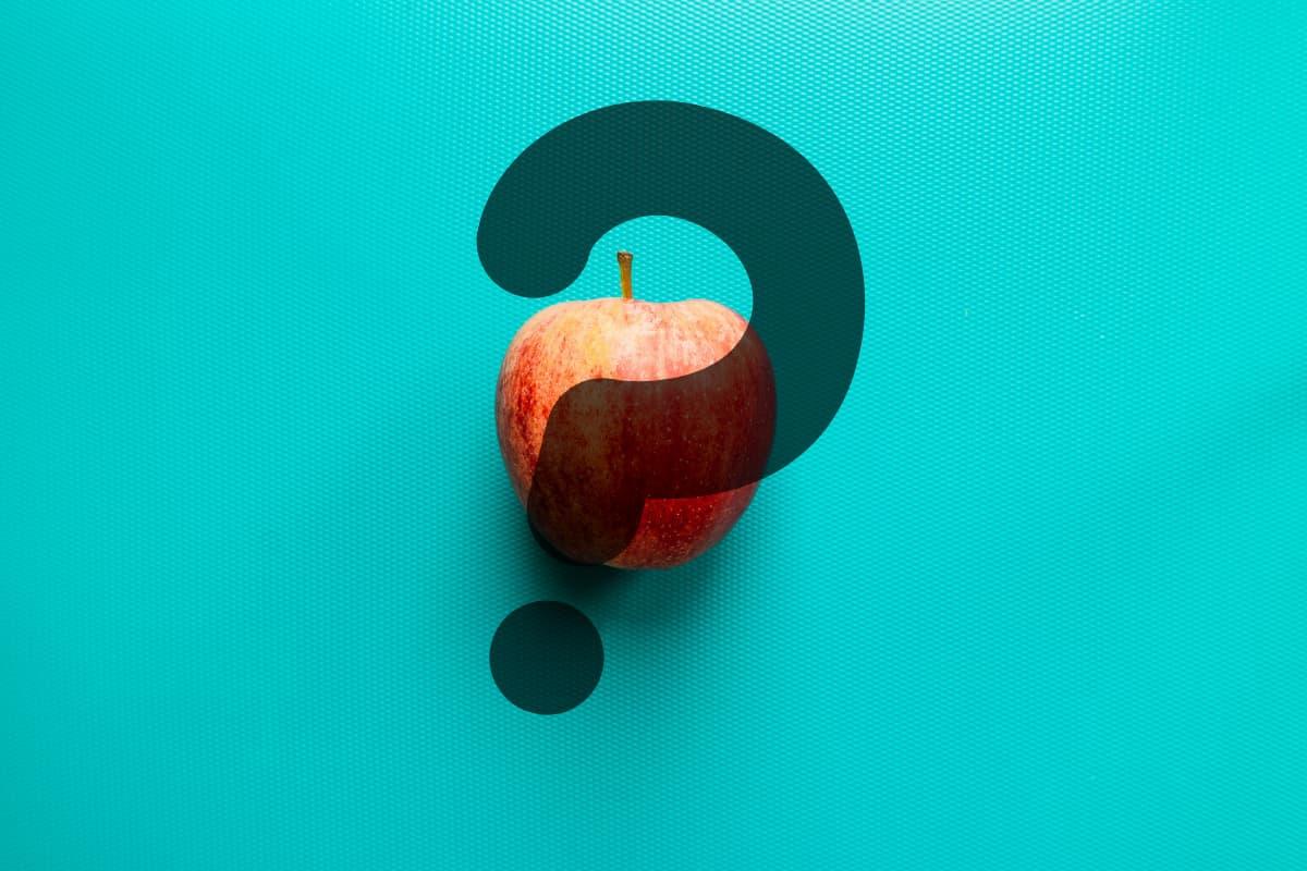 リンゴとはてなマーク