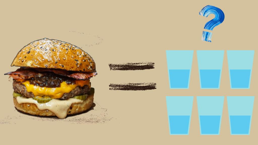 ハンバーガー1つ作るのに何日分の水が必要?